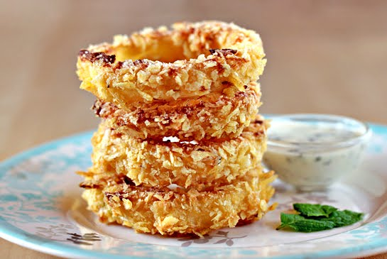 oven fried onion rings from zoom yummy