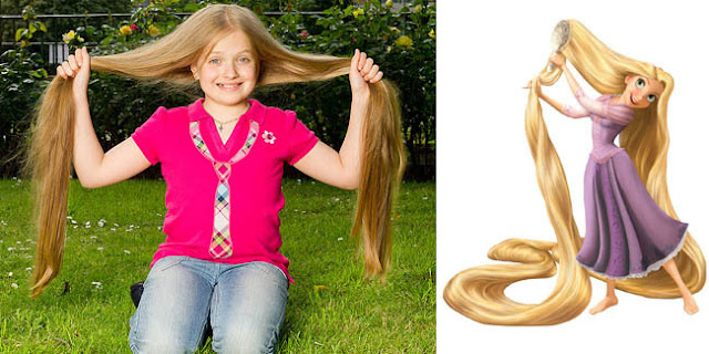 Anak Perempuan Dengan Rambut Panjang Seperti Rapunzel