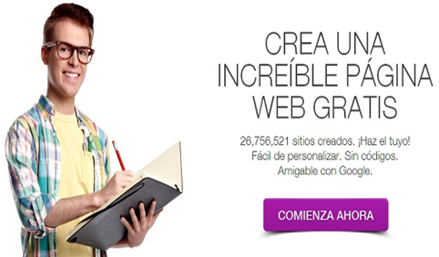 crear una pagina web gratis