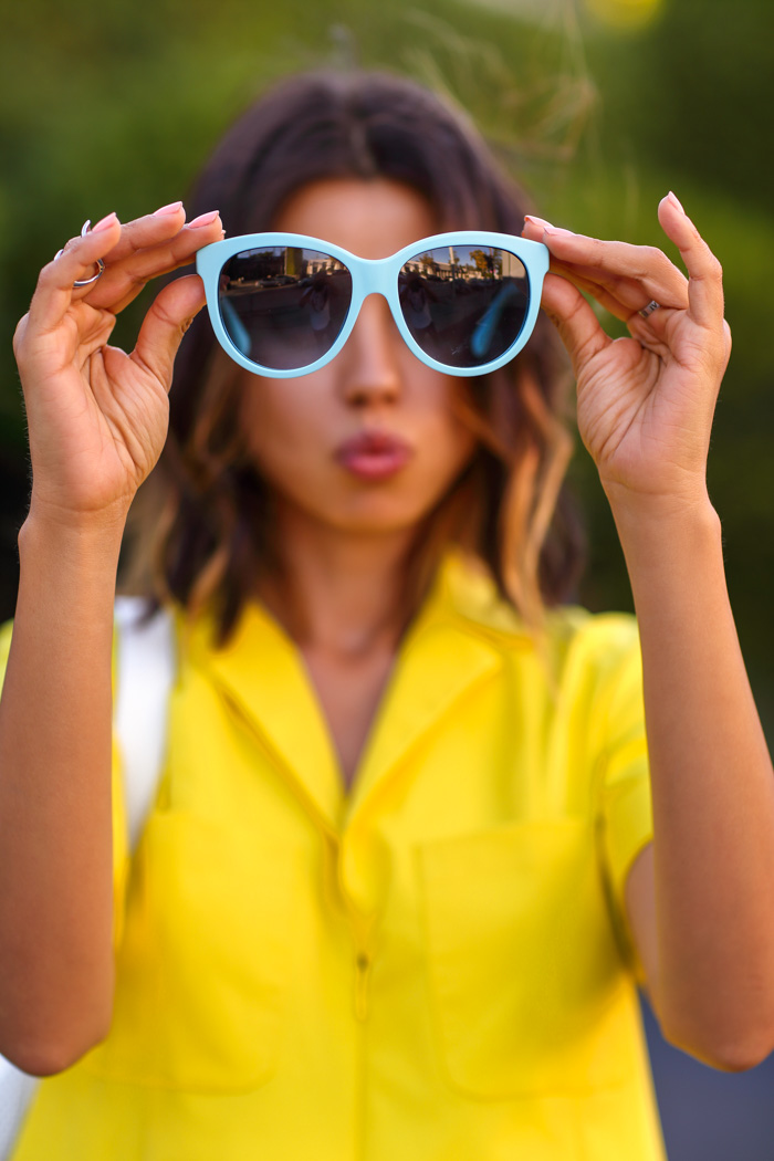 Dolce & Gabbana blue sunglasses