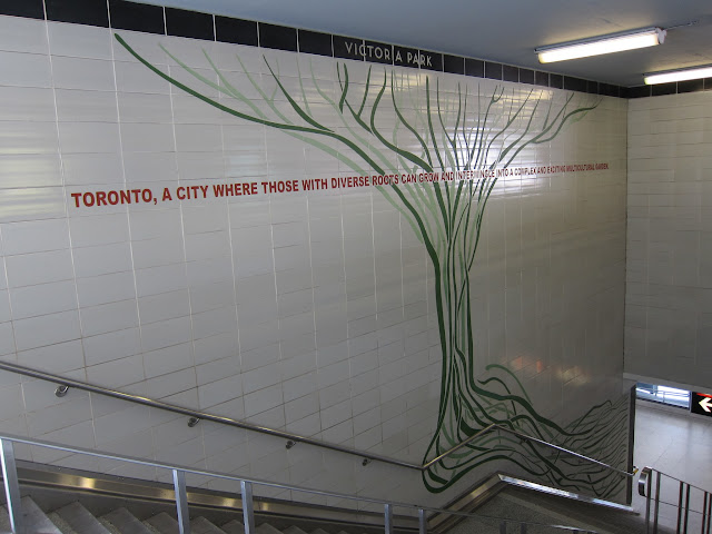 'Roots' by Aniko Meszaros at Victoria Park station
