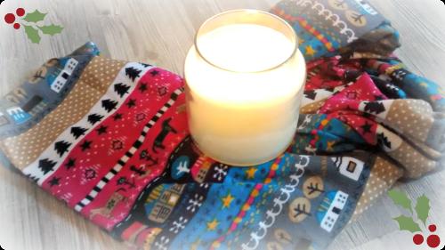 Dünner Schal mit Weihnachtsmotiv