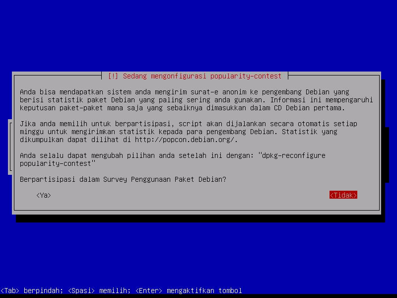 Instalasi Debian: Mau Ikut Survei Pengguna?