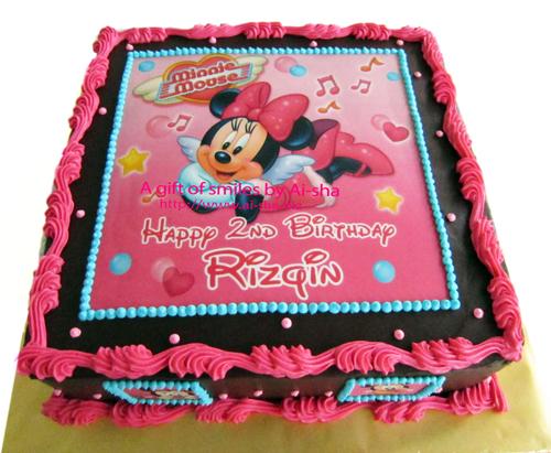 Birthday Cake Edible Image Minnie Mouse