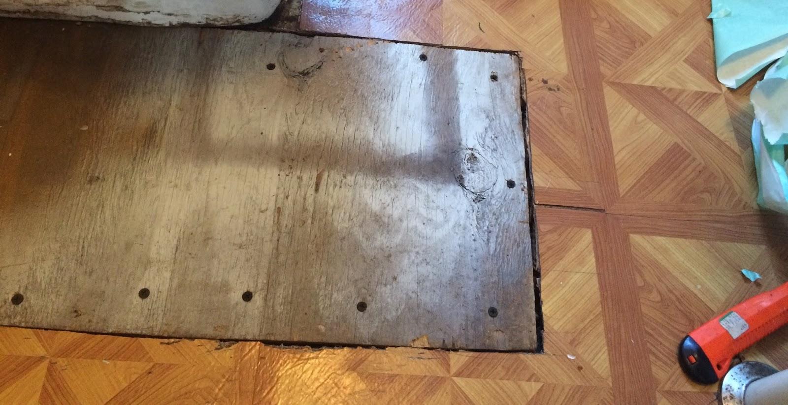 This Little House of Mine: Bathroom Floor Fix-Up