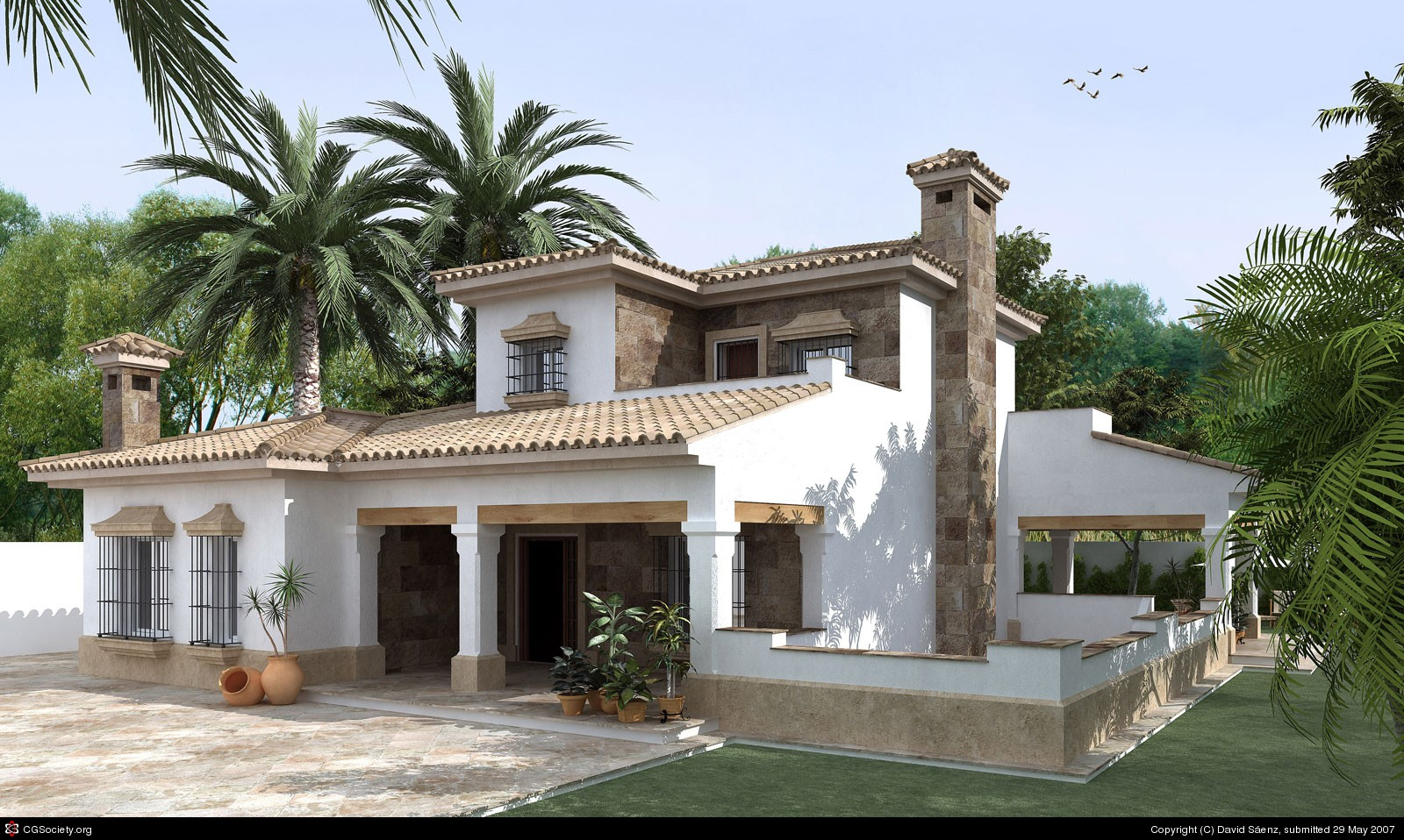 Meryem uzerli villa exterior design ideas for Villas exterior design pictures