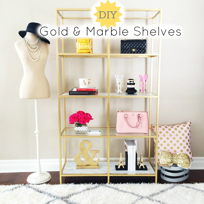 Diy Gold And Marble Shelves on office depot bookends