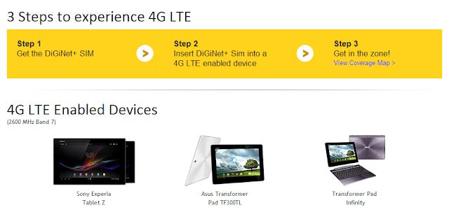 DiGi 4G LTE tablet