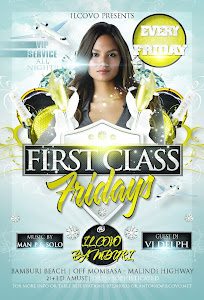 FIRST CLASS FRIDAY @ ILCOVO