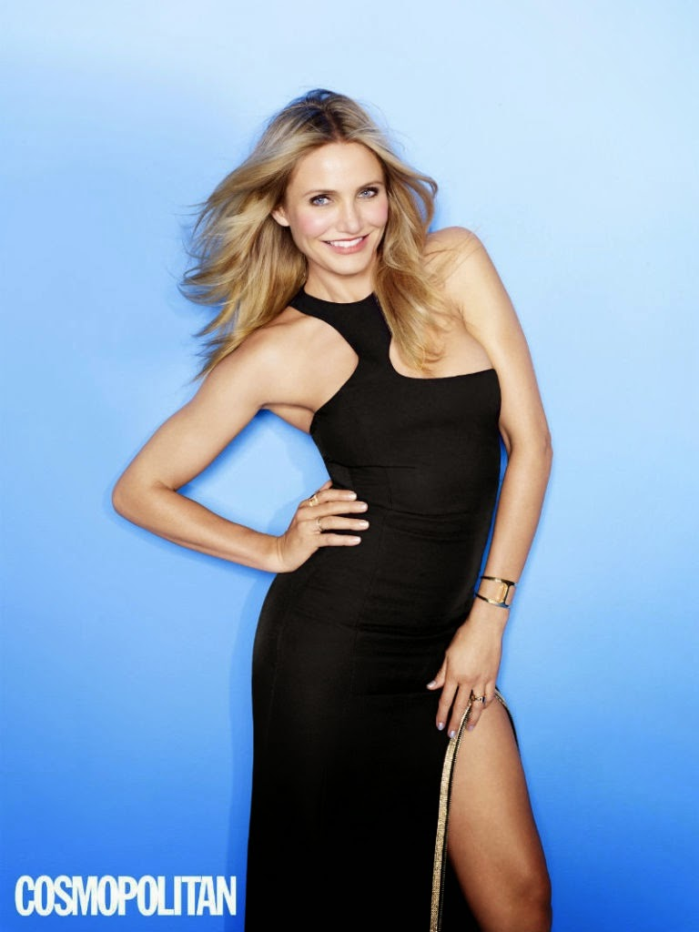 Cameron Diaz flaunts revealing designs for Cosmopolitan UK April 2015