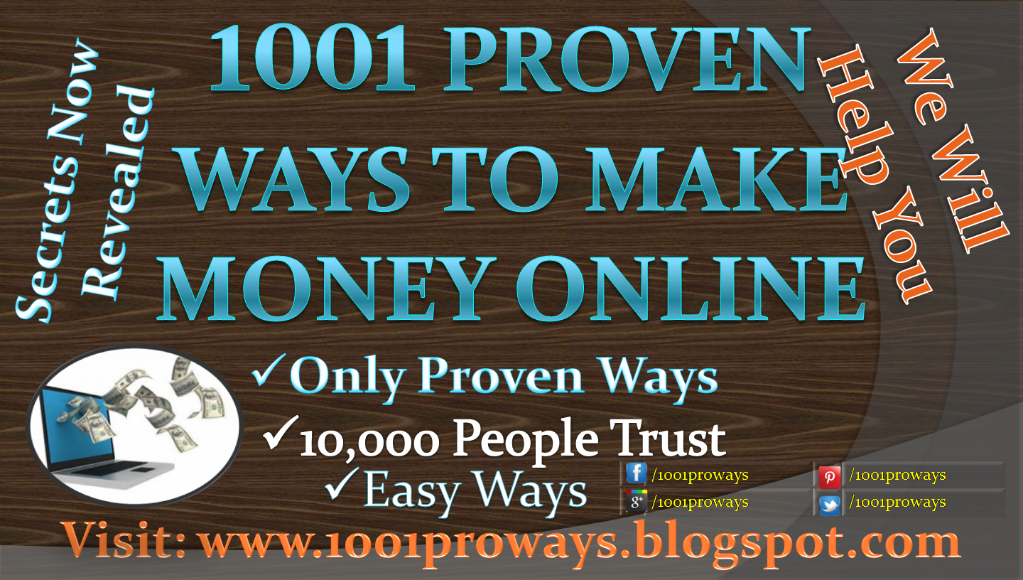 1001 ways to make money online at home free fast no scams