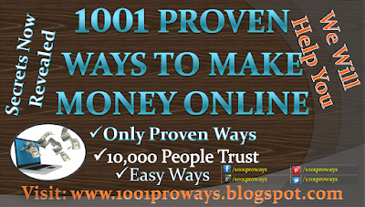 Many people say that we cannot make money online and people cheat sometimes. It is true to some extent. But, there are real and proven ways to make money Online from home free fast no scams. 1001 ways to make money online gives knowledge about those real and proven ways to make money online.