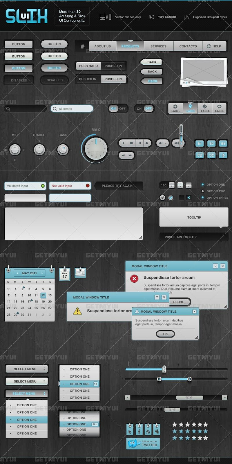 Slix UI - Free User Interface Pack for Mobile Devices