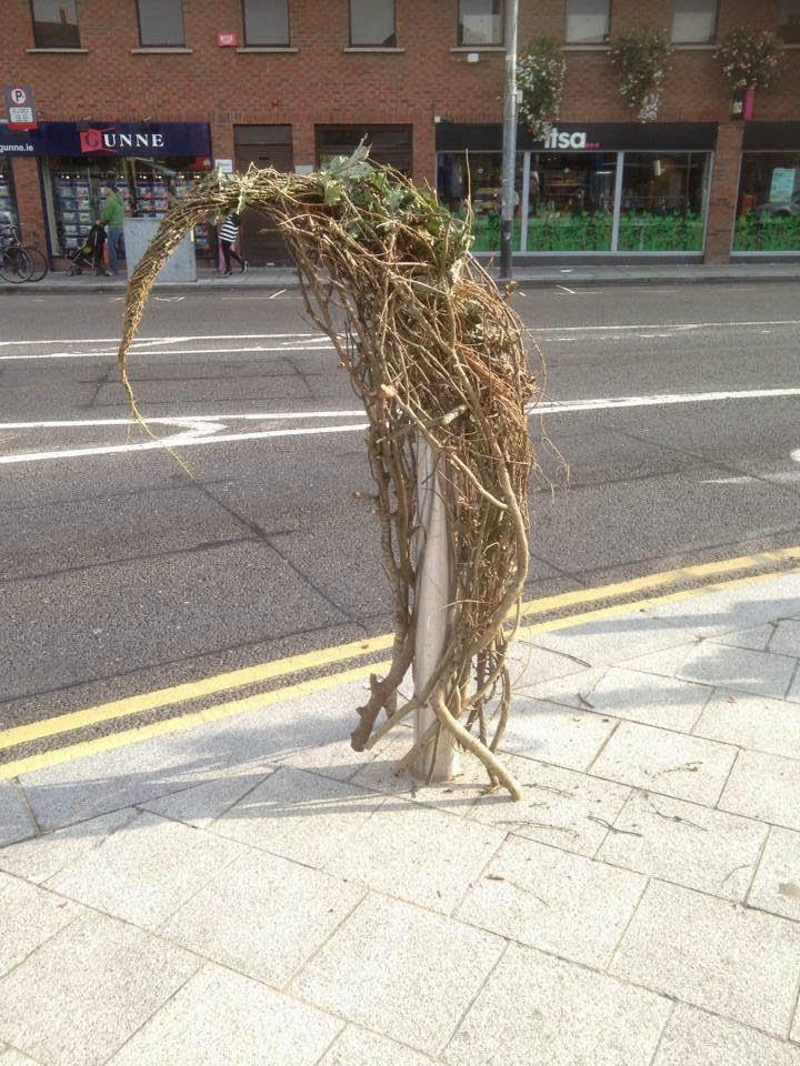 Scoodoo in Ranelagh decorating Bollard