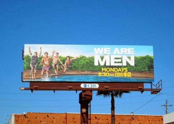 We Are Men series premiere billboard