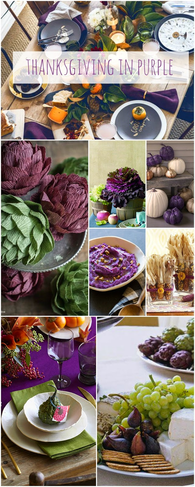 Thanksgiving in purple