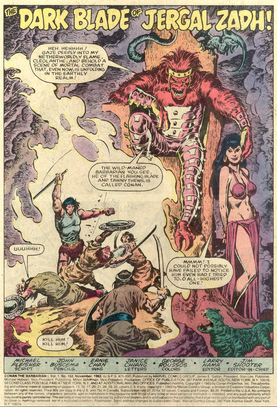 Conan the Barbarian (1970) Issue #152 #164 - English 2