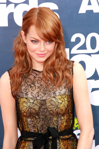 emma stone blonde bangs. emma stone blonde bangs. emma
