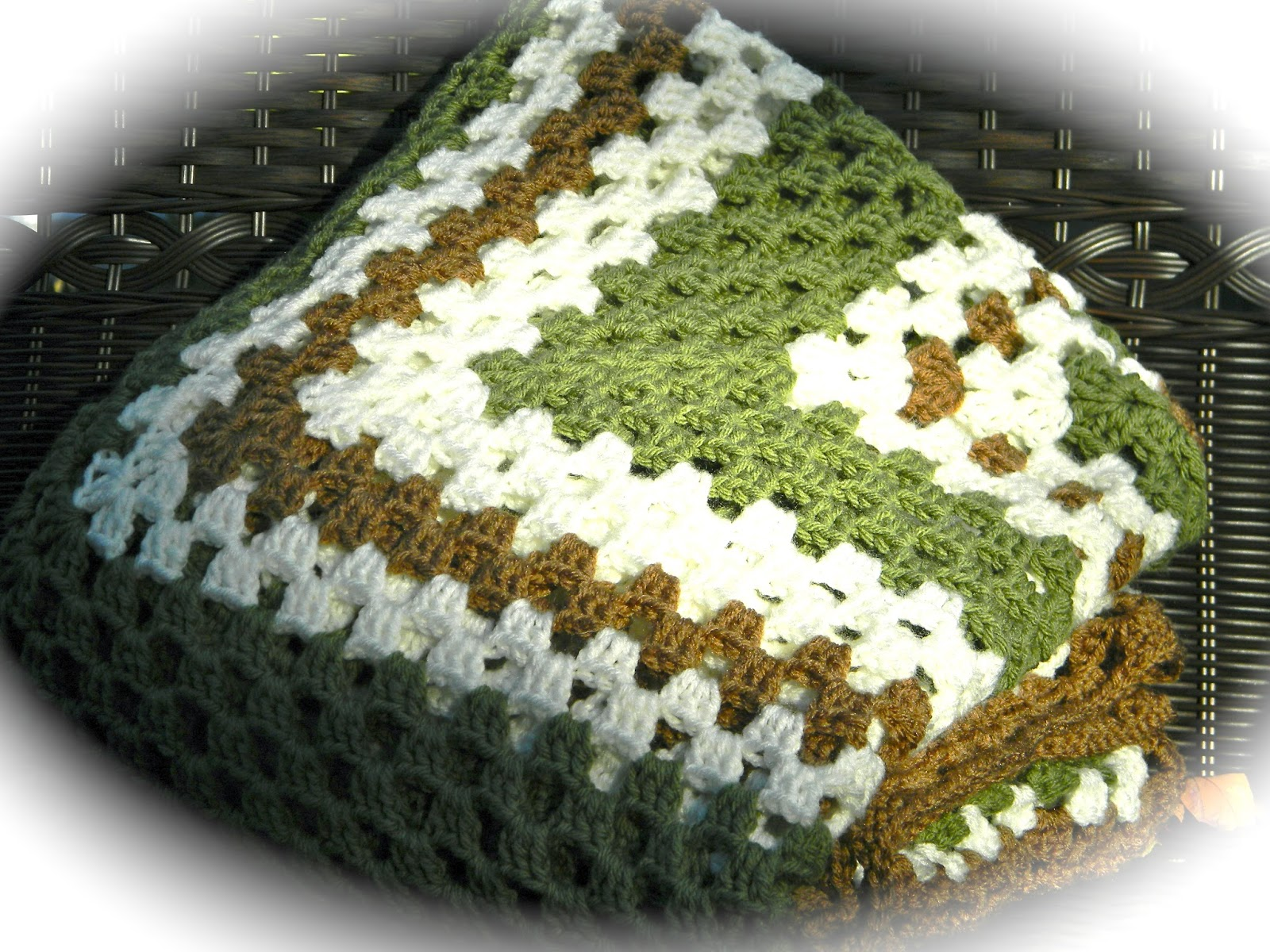 Home Cooked Handmade Giant Granny Square Blanket