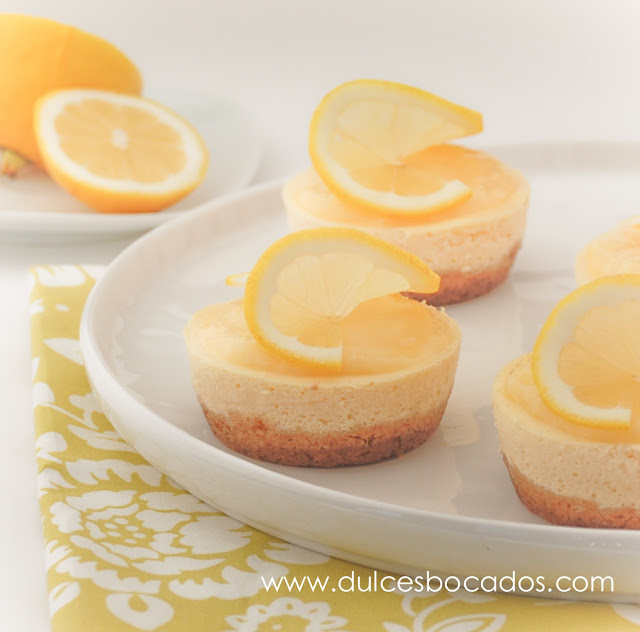 Mini cheesecake de limón