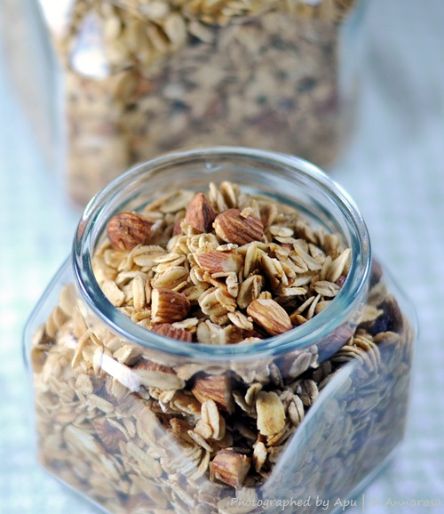 Crunchy Maple Cinnamon Coconut Granola | Breakfast Foods