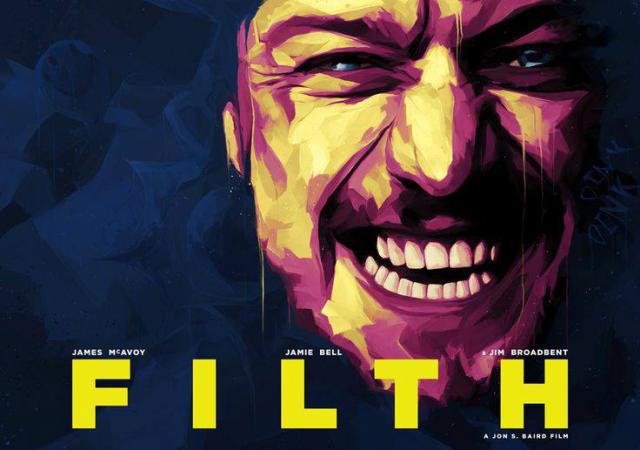 """Imágenes de la película """"Filth""""."""