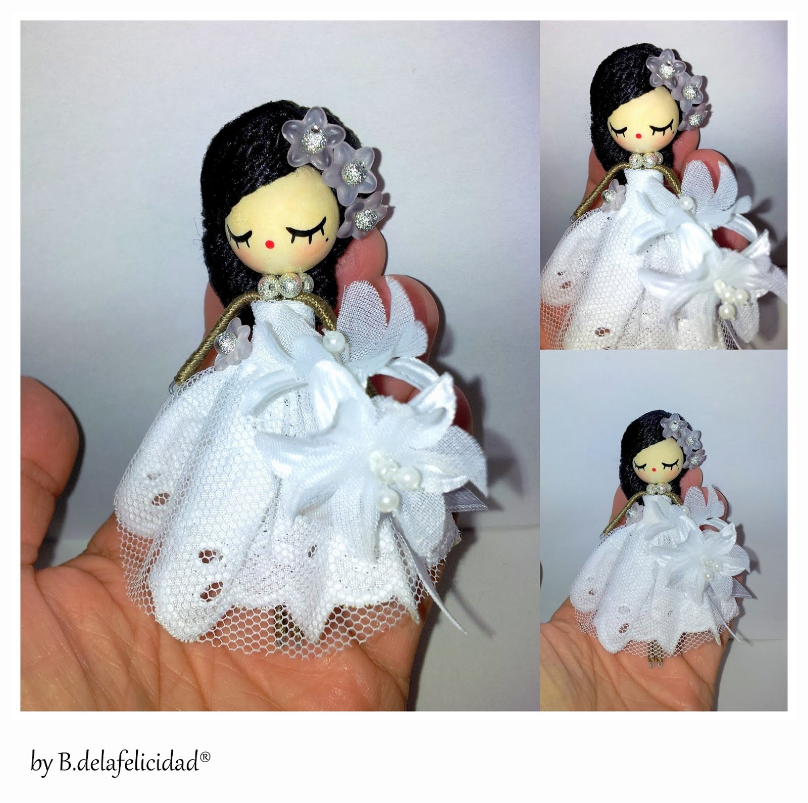 wedding doll brooch