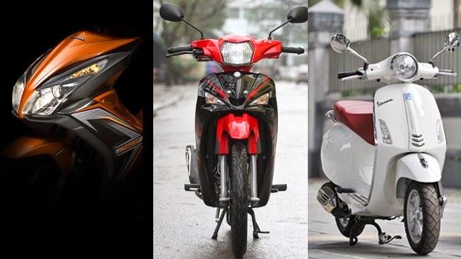 Top những mẫu xe máy bán chạy nhất năm 2014