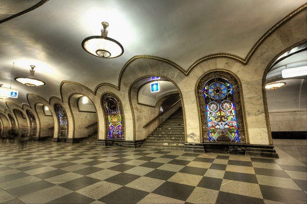 estações de metropolitano de Moscovo - Estação de Metro Novoslobodskaya