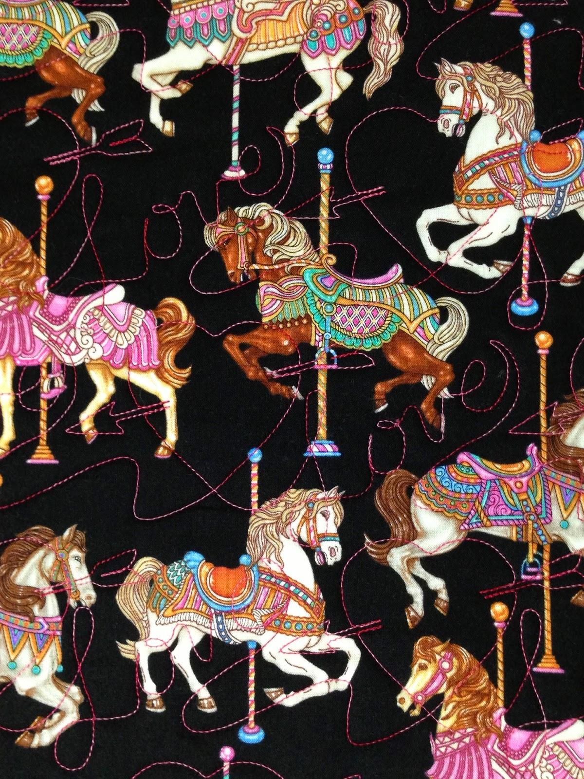 Joan McGarity Carousel Horses Quilt