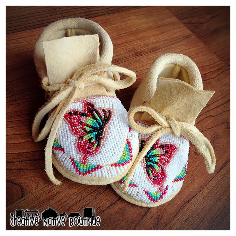 creative boutique custom baby moccasins with
