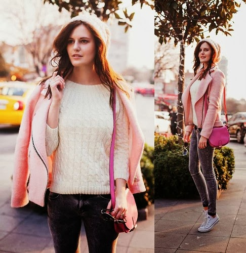 see more Light Pink Style, Bershka Jeans and Stradivarius Jacket