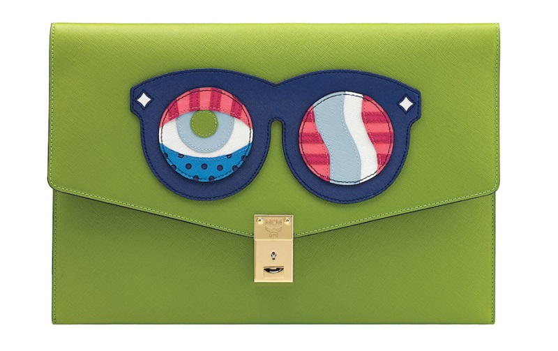 MCM X CRAIG & KARL GREEN EYES POP CLUTCH - DELUXSHIONIST SHOPPER
