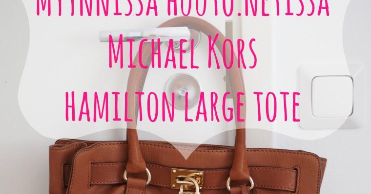 Myydään Michael Kors Tyylinen Laukku : Myyd??n michael kors hamilton large tote lindsay s diaries