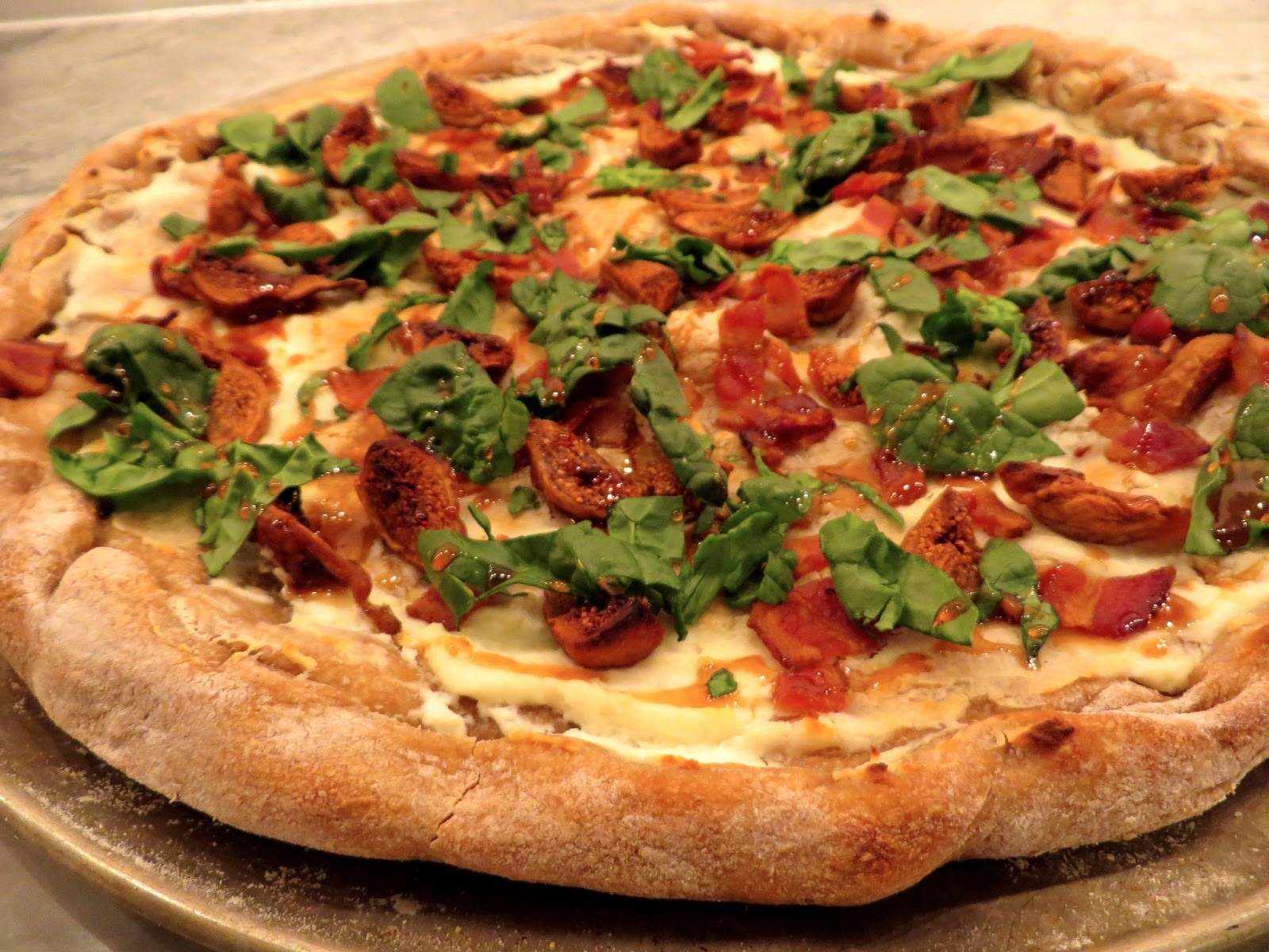 The Wooden Spoon Diaries: Fig, Bacon & Goat Cheese Pizza