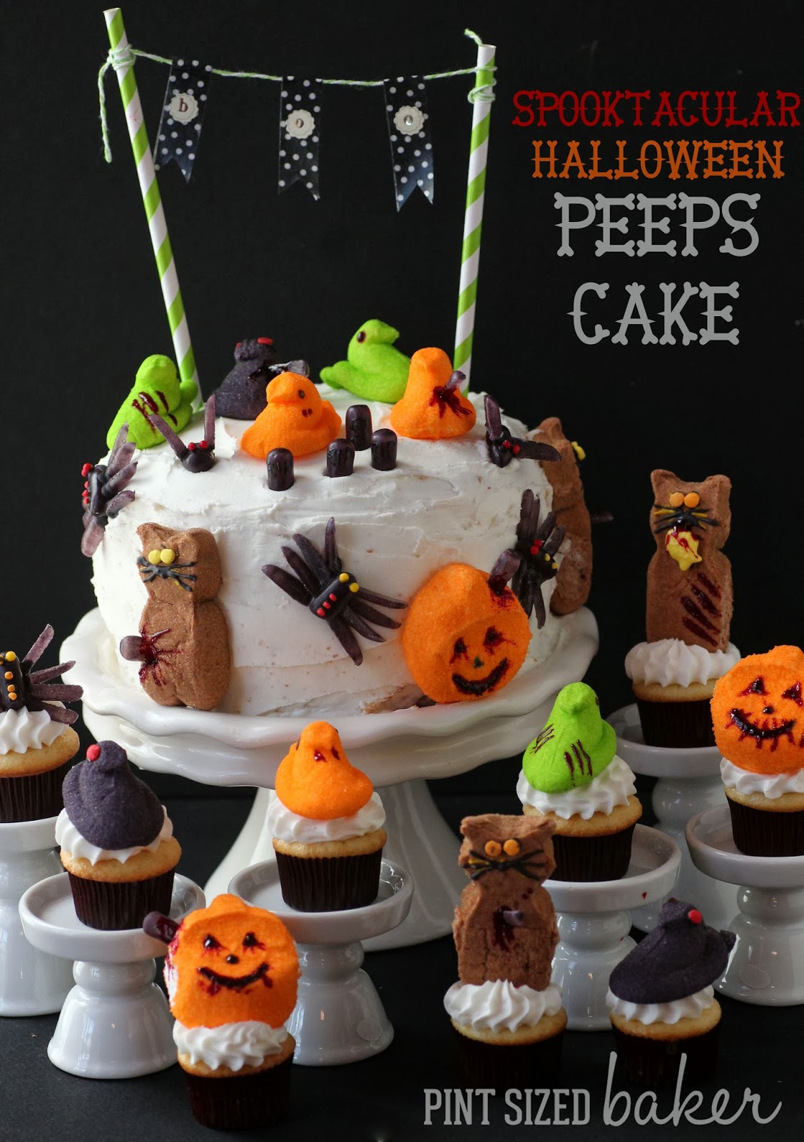 Halloween Peeps Cake - Pint Sized Baker