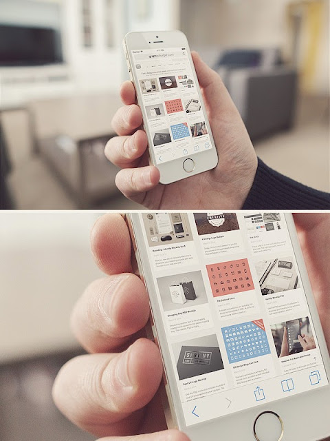 Les Ressources Web du Lundi by Iscomigoo Webdesign: Living Room iPhone 5S, templates supports