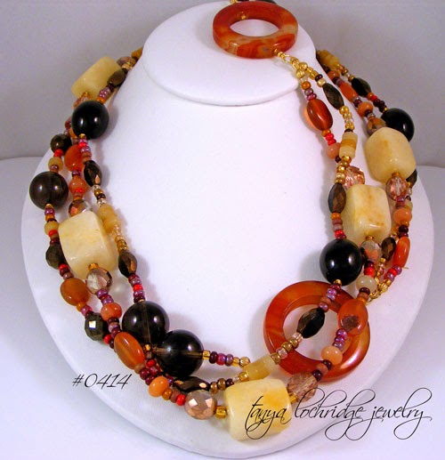 "Carnelian Multi-Gemstone 48"" Necklace"