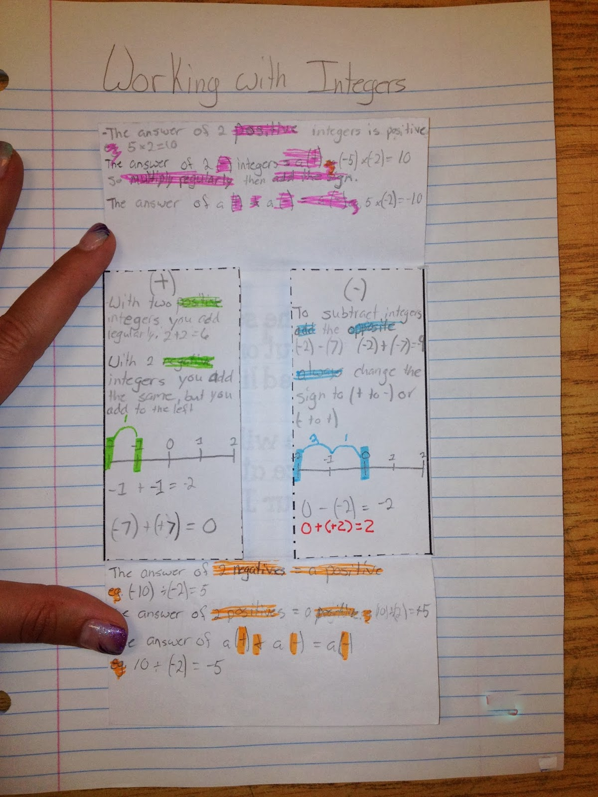 Miss L\'s Whole Brain Teaching: Interactive Notebooks in Math