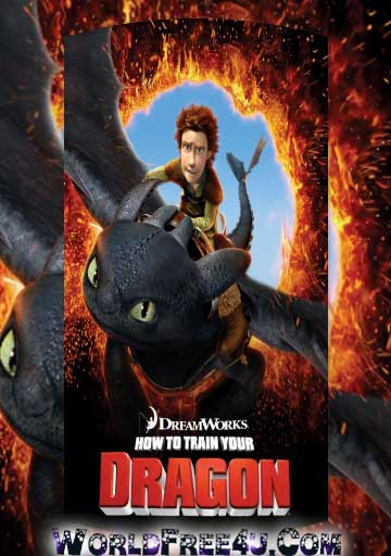 Poster Of How to Train Your Dragon (2010) Full Movie Hindi Dubbed Free Download Watch Online At worldfree4u.com