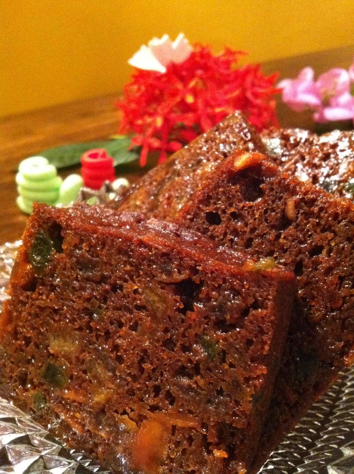 Steamed Fruit Cake Recipe