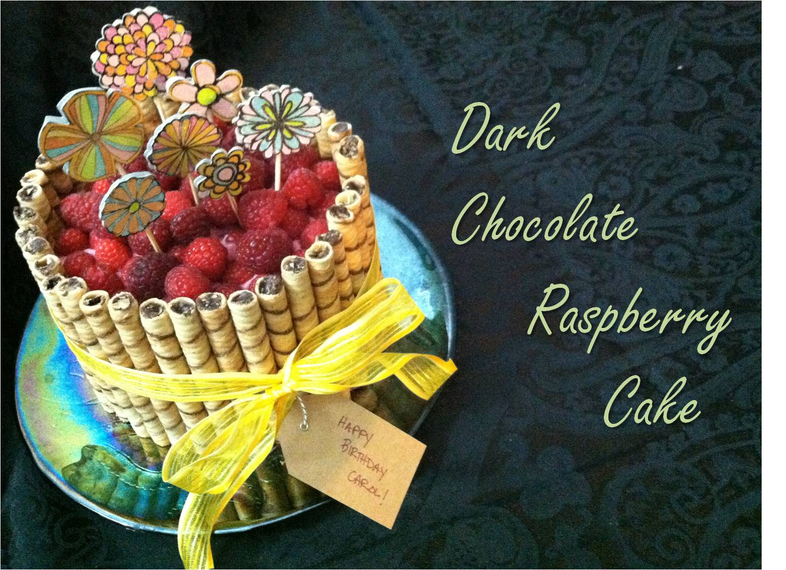 Chocolate Raspberry Cake Decoration : Julie Vision in the Kitchen: Dark Chocolate Raspberry Cake ...