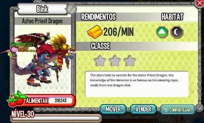 Dragão Sacerdote Asteca - Informações