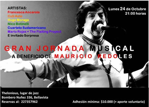 PROVIDENCIA:  GRAN JORNADA MUSICAL A BENEFICIO DE MAURICIO REDOLES