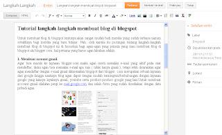 membuat artikel blog di blogspot