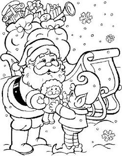 Papai Noel para colorir 3.