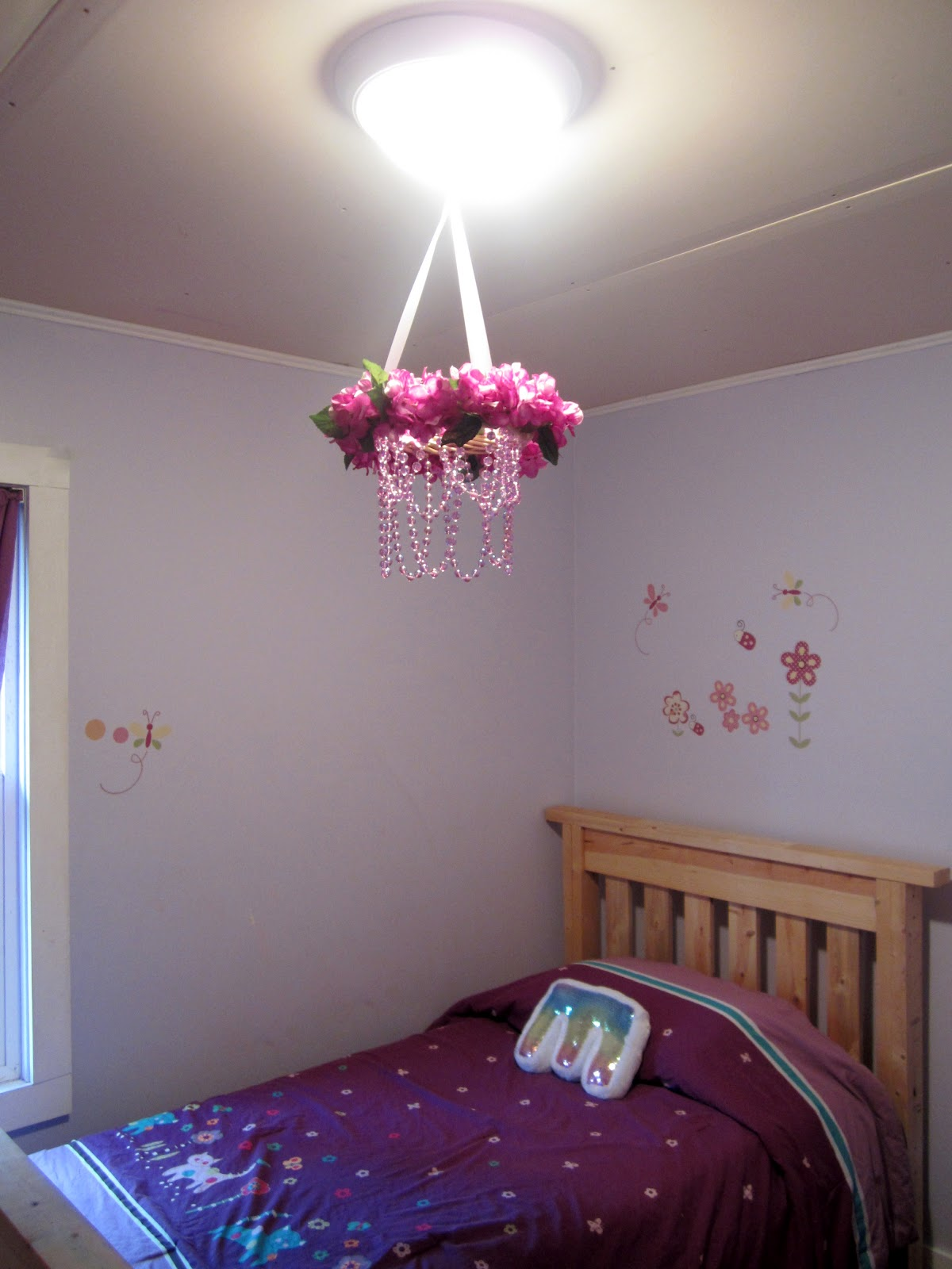 Mama Nibbles: Cheap Dollar Tree Spring Floral Chandelier Craft ...
