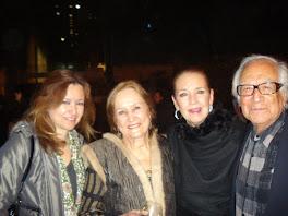 """Con los """"Fridos"""", Rina Lazo y Arturo García Bustos"""