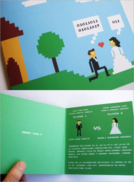Creative Fun Wedding Card Invitation