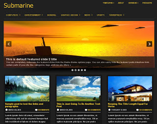 WordPress-Template Submarine